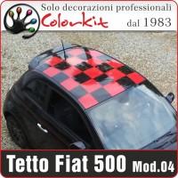Tetto a scacchi 04 per Fiat 500