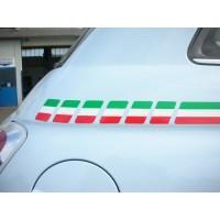 Riga tricolore laterale per Fiat 500