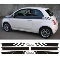 Strisce a scacchi per Fiat 500
