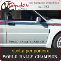 Scritte World Rally Champion per portiera