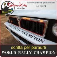 Scritta World Rally Champion per paraurti