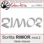 Scritta Rimor -2 (varie misure)