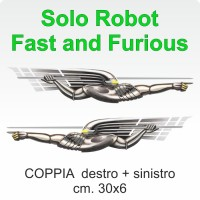 Fast and Furious Robot cm. 30x6 coppia