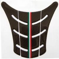 Paraserbatoio Effetto Carbonio con tricolore per Ducati Monster