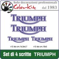 Scritte TRIUMPH (4 pezzi)