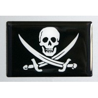 Bandiera pirata cm 7x4 3D