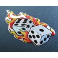 Dadi con fiamme cm 5x4 3D