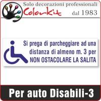 Adesivo per disabili 3