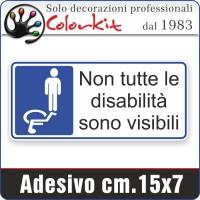 Adesivo per disabili 4