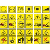 Pittogrammi sicurezza per trattori