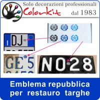 Emblema repubblica per targhe auto
