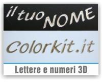Lettere e numeri 3D