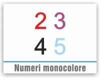 Numeri monocolore