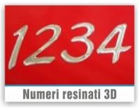 Numeri resinati 3D