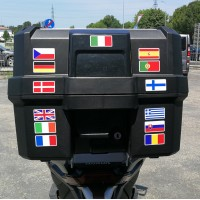 40 bandiere europee cm.5x2,5