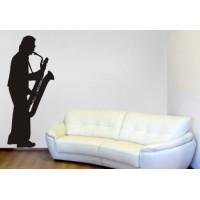 Musicista con sax cm 70x168