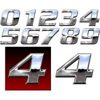 Numeri cromo cm. 10